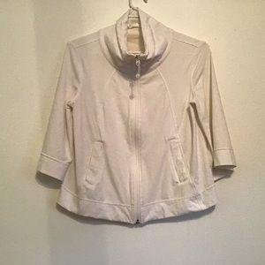 Lululemon White Cropped 3/4 Sleeve Jacket